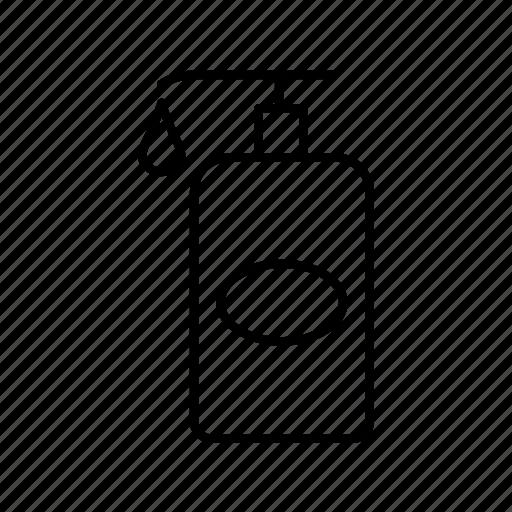 bottle, cartoon, lotion, spa icon