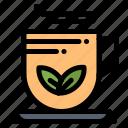 cup, green, tea, wellness icon
