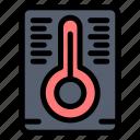 measurement, temperature icon
