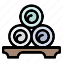 massage, relax, relaxation, spa, towels icon
