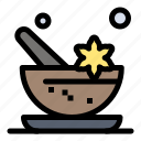 aromatic, cosmetics, mortar, spa icon