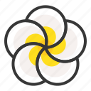flora, floral, flower, plumeria, spa icon