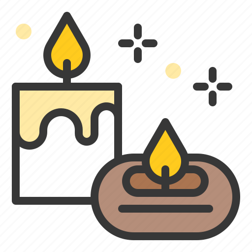 aroma, aroma candle, aromatherapy, candle, lamp, spa icon