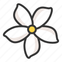 flora, floral, flower, jasmine, spa icon