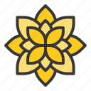 flora, floral, flower, spa icon