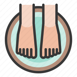 foot, foot soak, foot spa, spa icon
