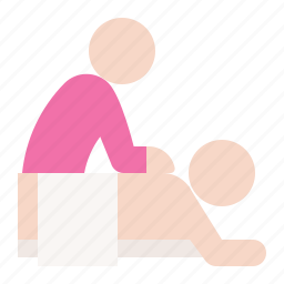 knead, massage, rub, spa icon