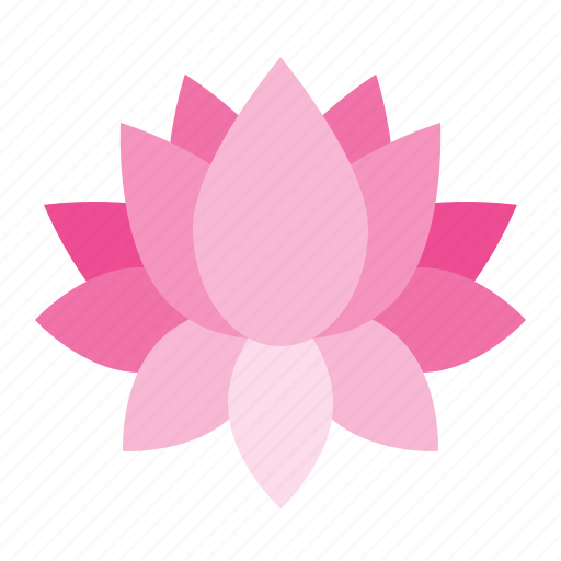flora, floral, flower, lotus, spa icon