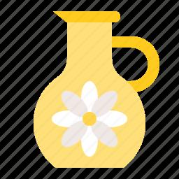 floral essence, jug, spa icon