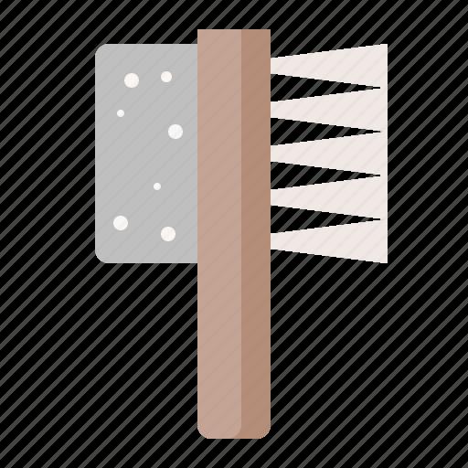 brush, foot brush, spa icon
