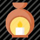 aroma lamp, aromatherapy, lamp, spa icon