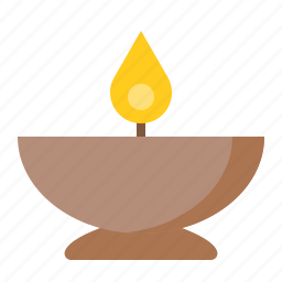 bowl, candle, candle in bowl, spa icon
