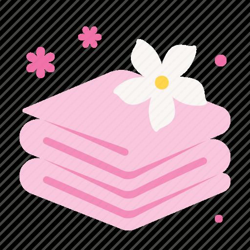 aroma, spa, towel icon