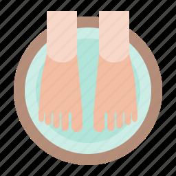 foot, foot soak, foot spa, pedicure, spa icon