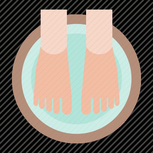 Foot, foot soak, foot spa, pedicure, spa icon - Download on Iconfinder