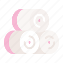 spa, towel roll, towel icon