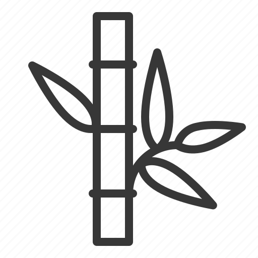 bamboo, leaf, spa icon