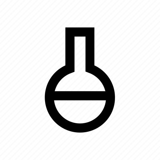 conical flask, erlenmeyer flask, lab equipments, lab flask, lab glassware, lab supplies, volumetric flask icon