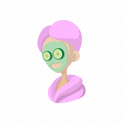Cartoon Beauty Face Female Health Mask Skin Icon Download On Iconfinder