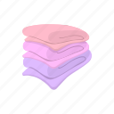 bath, clean, cotton, pile, soft, stack, towel icon