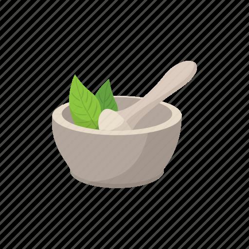 aromatherapy, bowl, cartoon, cosmetics, grind, mortar, pestle icon