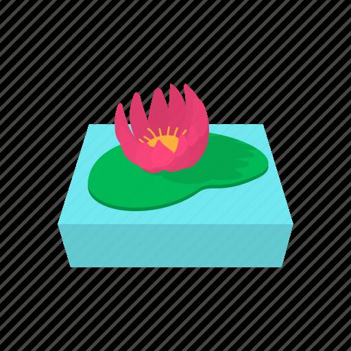 cartoon, floral, flower, lotus, nature, petal, silhouette icon