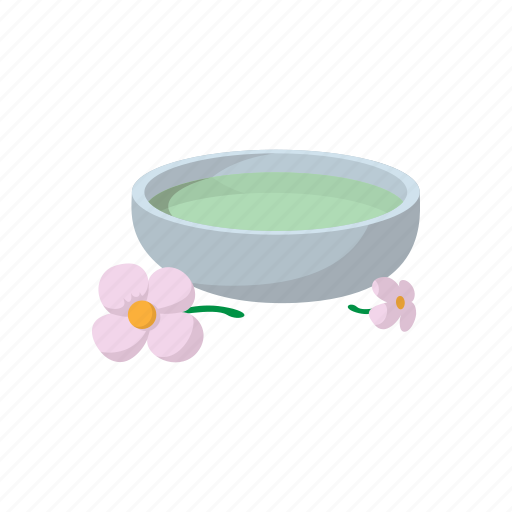 bowl, care, cartoon, flower, spa, treatment, water icon