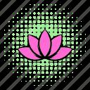 comics, floral, flower, lotus, nature, petal, silhouette