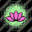 comics, floral, flower, lotus, nature, petal, silhouette icon