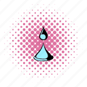 comics, drop, liquid, nature, spa, water, wave icon