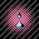 comics, drop, liquid, nature, spa, water, wave