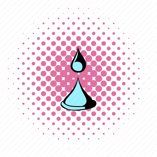 comics, drop, liquid, nature, spa, water, wave icon