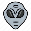 alien, astronomy, creature, extraterrestrial, space icon