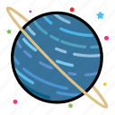 astronomy, planet, space, uranus icon