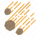 asteroid, galaxy, meteorite, space, universe icon