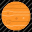 jupiter, planet, science, solar, system icon