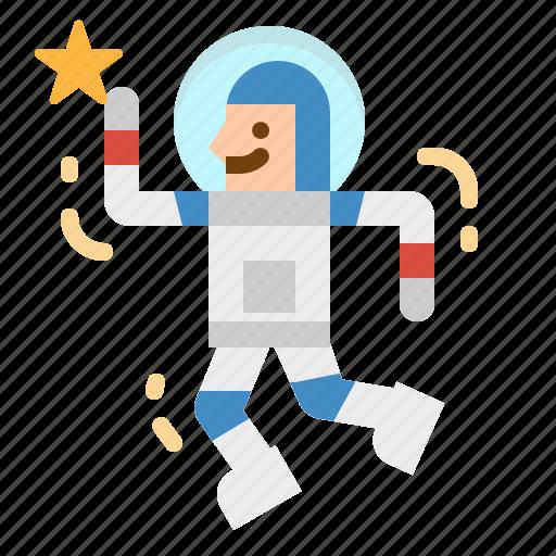 astronaut, avatar, education, galaxy, space icon