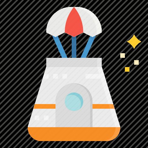 automobile, capsule, space, transportation icon