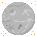 mercury, planet, solar, space, system icon