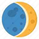 astronomy, moon, night, stars, weather icon