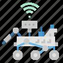 explorer, mar, planet, robot, rover icon