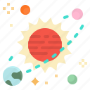 space, summer, sun, warm, weather icon