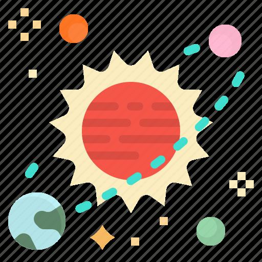 space, summer, sun, warm, weather icon
