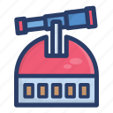 explorer, monitoring, observation, observatory, planetarium, space technology icon