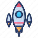 missile, rocket, scapecraft, science equipment, spaceship icon