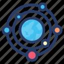 planetary system, solar panel, solar system, solar technology, solar wind icon