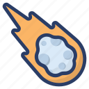 asteroid, humanoid, magic power, outer space, planet icon