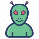 alien, humanoid, space, space alien, space avatar, ufo icon