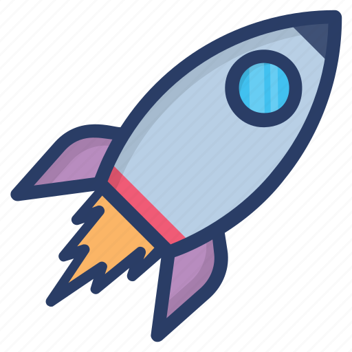 planetary system, rocket, scapecraft, science equipment, spaceship icon
