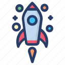 astronomy, rocket, scapecraft, science equipment, space, spaceship icon
